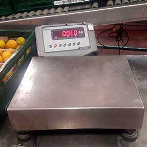 Balanza para pesar fruta