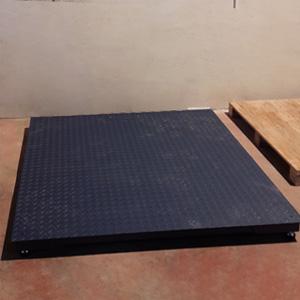 Báscula de pesaje voluminoso instalada en Almería